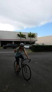 The winner of Bike To Work Maui is Kim McEvoy of 3D Builders in Kahului!