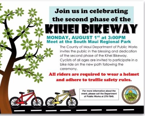 Kihei bikeway Aug1